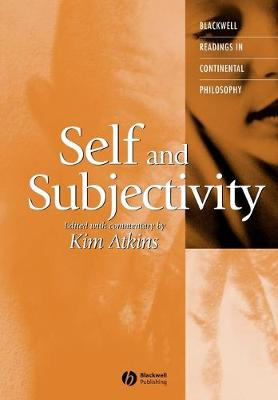Self and Subjectivity - Blackwell Readings in Continental Philosophy (Paperback)