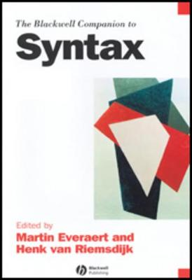 The Blackwell Companion to Syntax Volumes 1-5 Set - The Companions to Linguistics (CNLZ) series (Hardback)