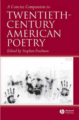 A Concise Companion to Twentieth-Century American Poetry - Concise Companions to Literature and Culture (Paperback)