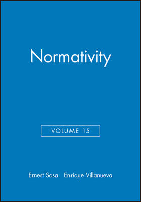 Normativity - Philosophical Issues: A Supplement to Nous (Paperback)