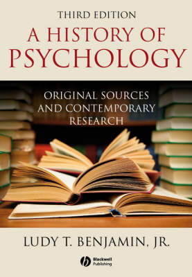 A History of Psychology: Original Sources and Contemporary Research (Paperback)