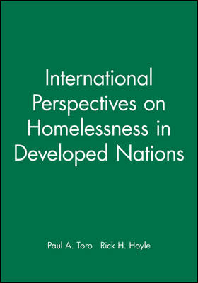 International Perspectives on Homelessness in Developed Nations - Journal of Social Issues (JOSI) (Paperback)