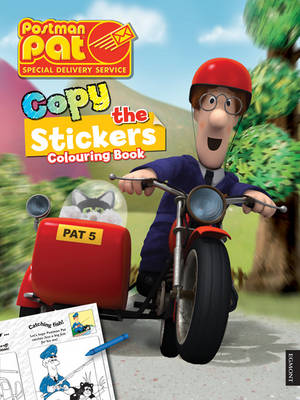Postman Pat Copy the Sticker Colouring Book (Paperback)