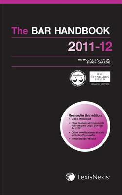 The Bar Handbook 2011-2012 (Paperback)