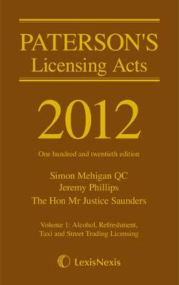 Paterson's Licensing Acts 2012