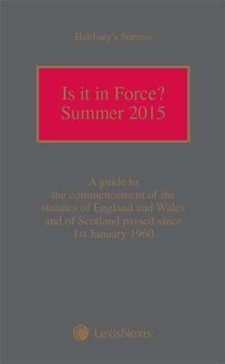 Is It In Force? Summer 2015 (Paperback)