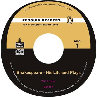 Shakespeare: Level 4: His Life and Plays CD for Pack - Penguin Readers (Graded Readers) (CD-Audio)