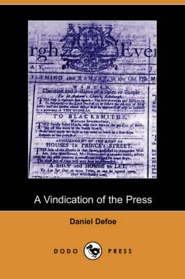 A Vindication of the Press (Paperback)