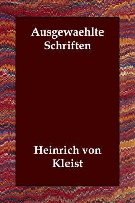 Ausgewaehlte Schriften (Paperback)