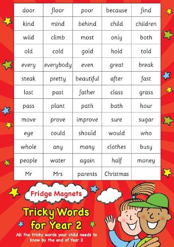Fridge Magnets - Tricky Words for Year 2 - Scholastic Magnets
