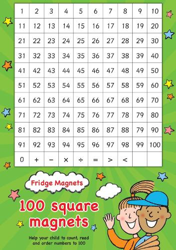 Fridge Magnets - 100 Square Maths Magnets - Scholastic Magnets