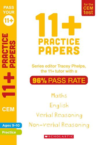 11+ Practice Papers for the CEM Test Ages 9-10 - Pass Your 11+ (Paperback)