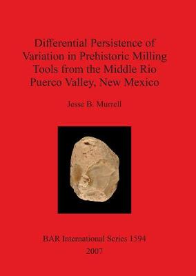 Differential Persistence of Variation in Prehistoric Milling Tools from the Middle Rio Puerco Valley, New Mexico - British Archaeological Reports International Series (Paperback)