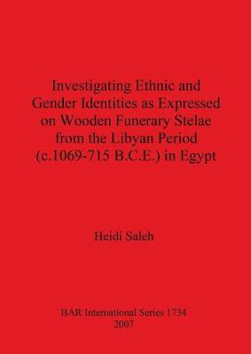 Investigating Ethnic and Gender Identities as Expressed on Wooden Funerary Stelae from the Libyan Period (c.1069-715 B.C.E.) in Egypt - British Archaeological Reports International Series (Paperback)