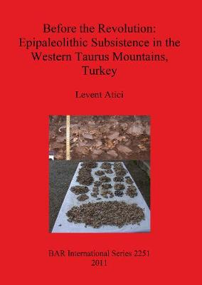 Before the Revolution: Epipaleolithic Subsistence in the Western Taurus Mountains Turkey - British Archaeological Reports International Series (Paperback)
