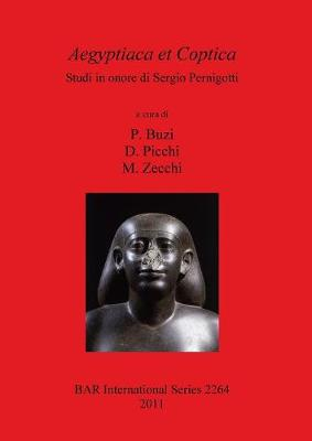 Aegyptiaca et Coptica Studi in onore di Sergio Pernigotti: Studi in onore di Sergio Pernigotti - British Archaeological Reports International Series (Paperback)