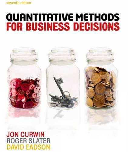 Quantitative Methods for Business Decisions (Paperback)