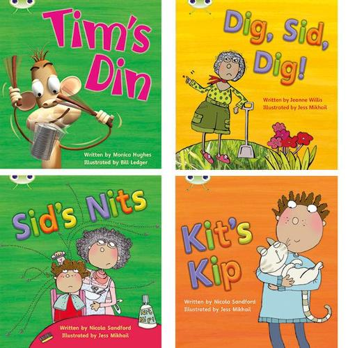 Learn to Read at Home with Phonics Bug: Pack 1 (Pack of 4 fiction books) - Phonics Bug