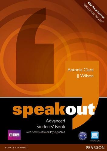 Speakout Advanced Students' Book with DVD/Active Book and MyLab Pack - speakout