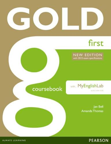 Gold First New Edition Coursebook with FCE MyLab Pack - Gold
