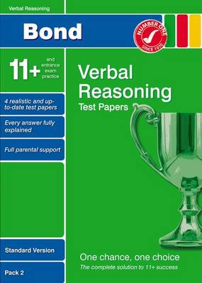 Bond 11+ Test Papers Verbal Reasoning Standard Version Pack 2 (Paperback)
