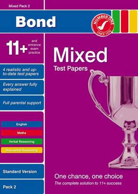 Bond 11+ Test Papers Mixed Pack 2 Standard (Paperback)