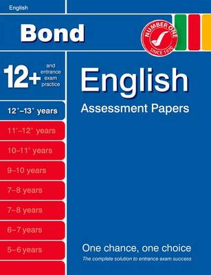 Bond English Assessment Papers 12+-13+ Years (Paperback)