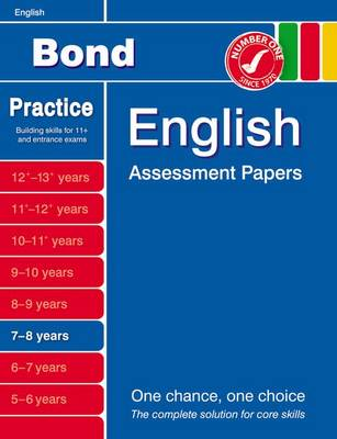 Bond English Assessment Papers 7-8 Years (Paperback)