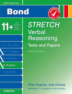 Bond Stretch Verbal Reasoning Tests and Papers 8-9 Years (Paperback)