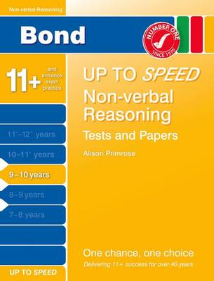 Bond 9-10 Up to Speed Non-Verbal Reasoning Tests and Papers 9-10 Years (Paperback)