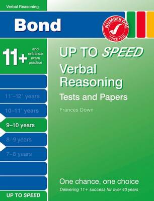 Bond Up to Speed Verbal Reasoning Tests and Papers 9-10 Years (Paperback)