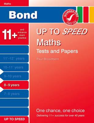 Bond Up to Speed Maths Tests and Papers 8-9 Years (Paperback)