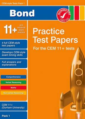 Bond CEM Style 11+ Practice Test Papers 1 - All Questions (Paperback)