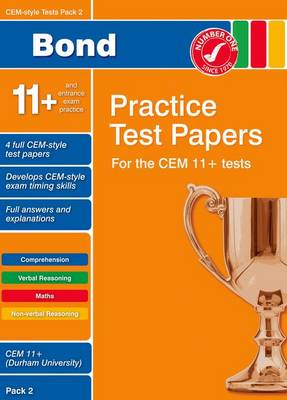 Bond CEM Style 11+ Practice Test Papers 2 - All Questions (Paperback)