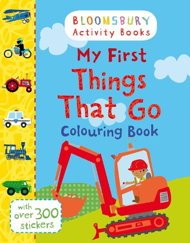 My First Things That Go Colouring Book (Paperback)