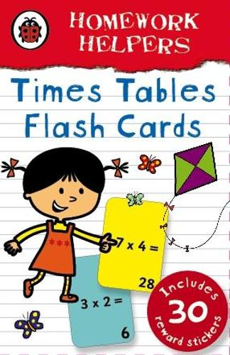 Ladybird Homework Helpers: Times Tables flash cards (Hardback)