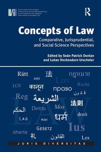 Concepts of Law: Comparative, Jurisprudential, and Social Science Perspectives - Juris Diversitas (Hardback)