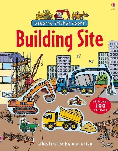 Building Sites Sticker Book - Usborne First Sticker Books (Paperback)