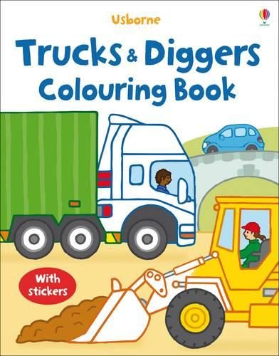 My First Colouring Book with stickers: Trucks and Diggers - First Colouring Books with stickers (Paperback)