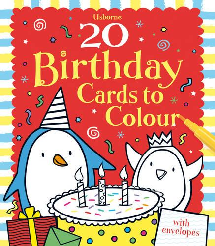 20 Birthday Cards to Colour - Activity and Puzzle Cards