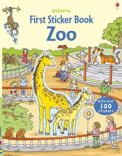 First Sticker Book Zoo - First Sticker Books series (Paperback)