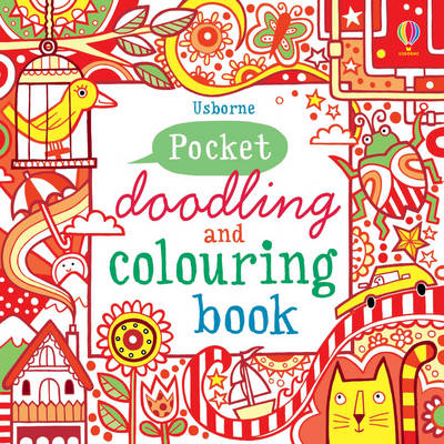 Pocket Doodling and Colouring Book Red - Pocket Doodling & colouring book (Paperback)