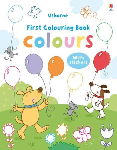 Colours Colouring Book with Stickers - First Colouring Books with stickers (Paperback)