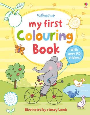 My First Colouring Book - First Colouring Books with stickers (Paperback)