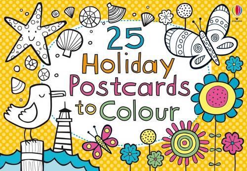 25 Holiday Postcards to Colour - Activity and Puzzle Cards (Paperback)
