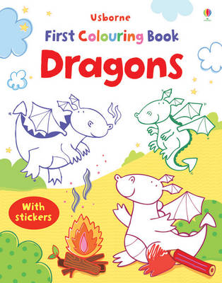 First Colouring Book Dragons with Stickers - First Colouring Books with stickers (Paperback)