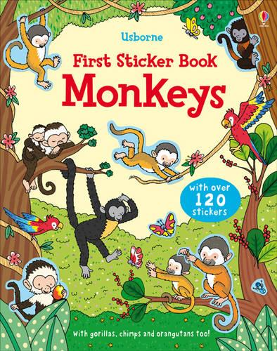 First Sticker Book Monkeys - First Sticker Books (Paperback)