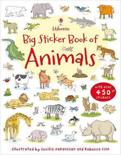 Big Sticker Book of Animals (Paperback)