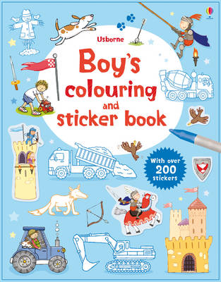 Boy's Colouring and Sticker Book - Sticker and Colouring Books (Paperback)