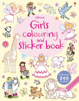 Girls' Colouring and Sticker Book (Paperback)